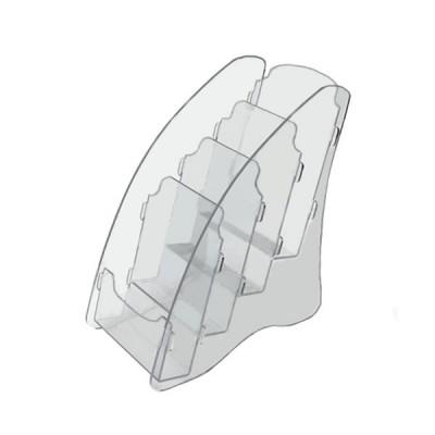 OL-162А6/4 Подставка для буклетов формата А-6, 4-х ярусная