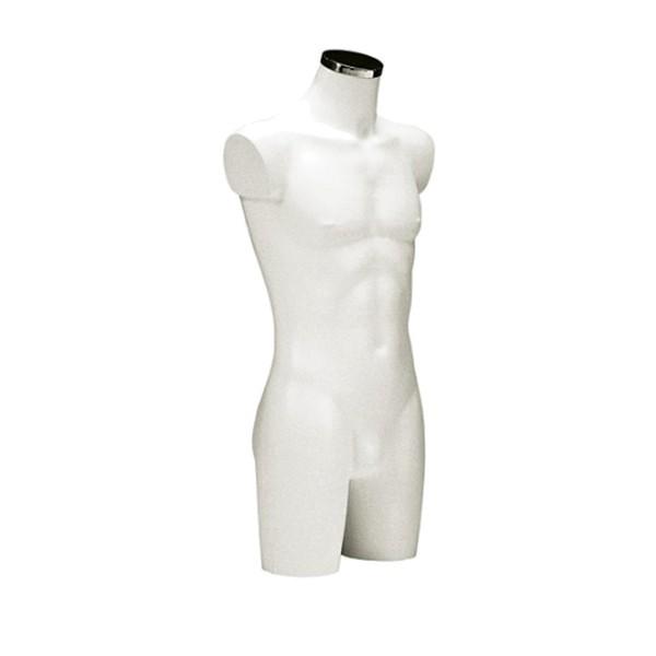 BU-9462 Торс мужской, удлинённый. Цвет: Белый