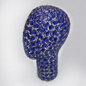 11-2B Голова проволочная. Цвет: Чёрный хром + Синее стекло