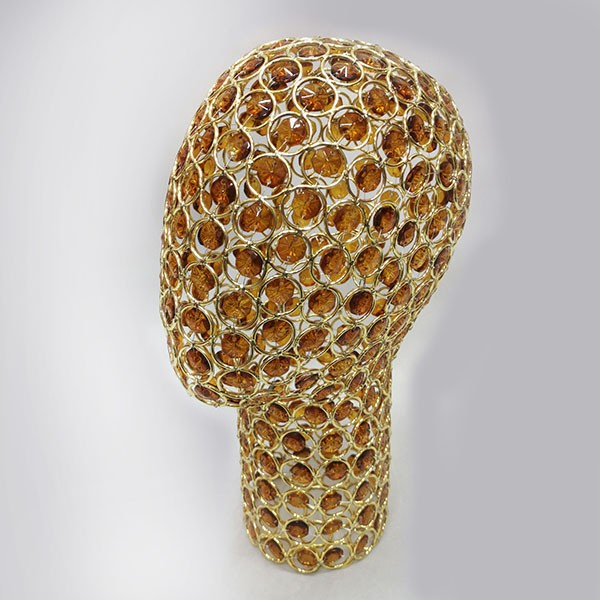 11-G Голова проволочная. Цвет: Жёлтое золото + Янтарное стекло