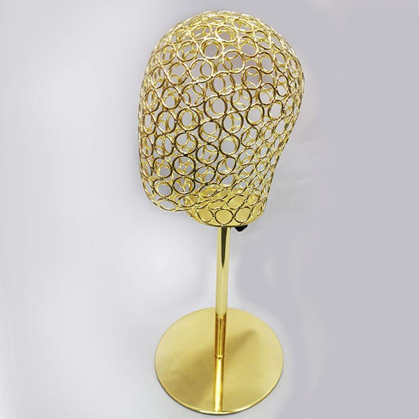 12-G Голова проволочная, подставке. Цвет: Жёлтое золото