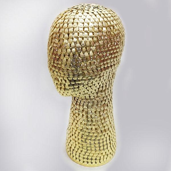 4-G Голова металлическая. Цвет: Жёлтое золото