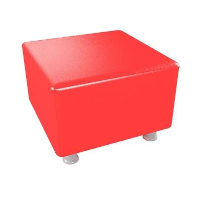 """ПФ-101 Банкетка """"Куб"""" на ножках.  Цвет: Красный"""