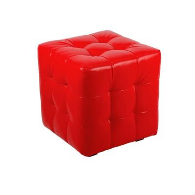 """ПЛ-01 Банкетка """"Куб-прошитый"""" Цвет: Красный"""