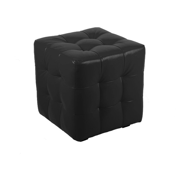 """ПЛ-01 Банкетка """"Куб-прошитый"""" Цвет: Чёрный"""