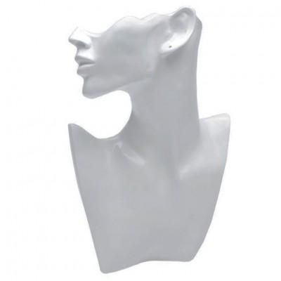 Пластиковая шея с головой. Цвет: белый