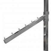 PR-483 Кронштейн наклонный на вертикальную трубу 25*25мм